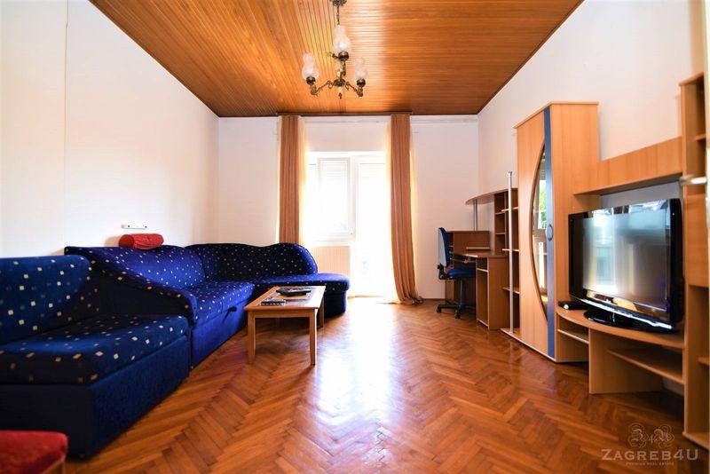 Namješteni 2-sobni stan za najam na Srebrnjaku (65 m2) sa balkonom