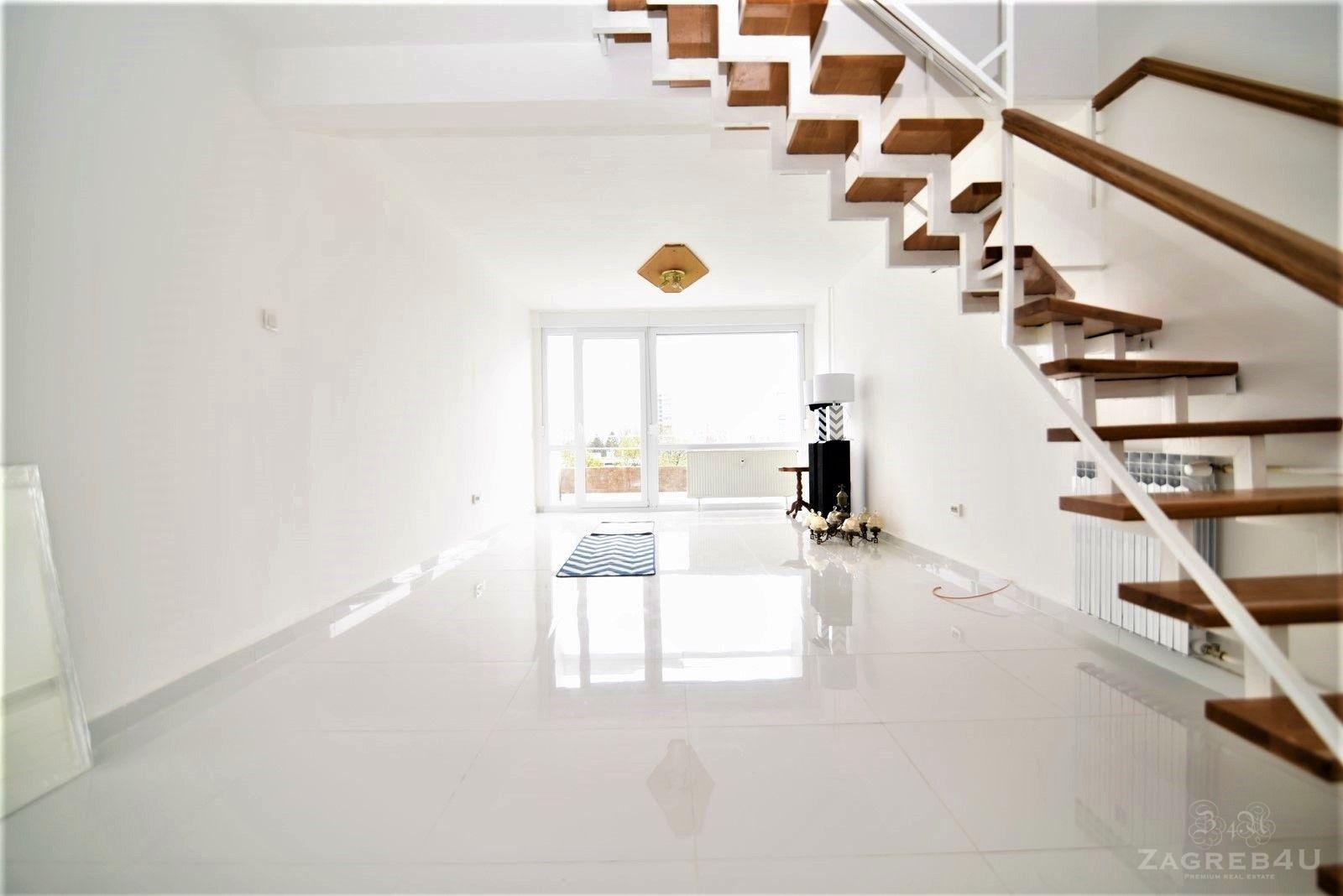 Novi Zagreb - novi 3-sobni 2-etažni stan za najam (98 m2) kod Avenue-a